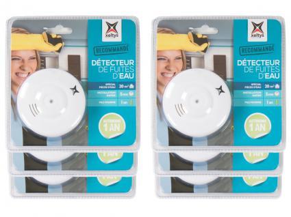 6x Wassermelder 85dB Bad Küche Keller Überschwemmungs-Alarm Wasserleck-Detektor