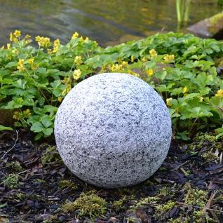 Dekokugel in Granitoptik 25cm Gartenkugel Gartendeko Granitkugel Deko Steinkugel