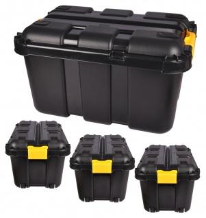4er Werkstatt Box mit Rollen 50 L Rollenbox Stapelbox Lagerbox Aufbewahrungsbox