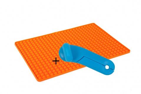 Silikon Dauerbackmatte mit Noppen + GRATIS Dosenöffner Backunterlage Untersetzer