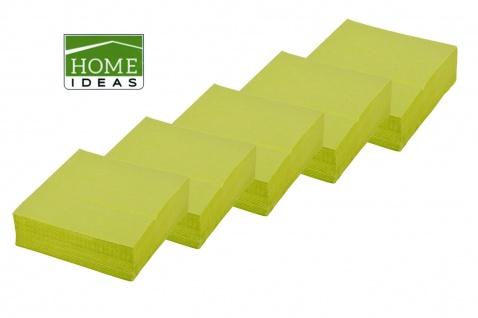 250 Servietten grün 33x33cm 3lagig 1/4 Falz Papierserviette Tischdeko Papiertuch