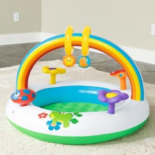 Spielcenter Rainbow Planschbecken Kinderpool Spielbogen Spieltrainer Babypool - Vorschau 5
