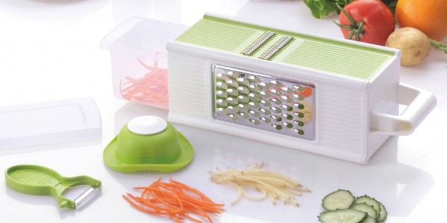 Würfel-Küchenreibe Vierkantreibe Gemüseschneider Gemüsehobel Raspler