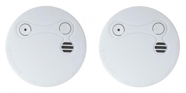 2er Set Xeltys Rauchmelder 5 Jahres Batterie 85 dB Feuermelder Rauchwarner Alarm