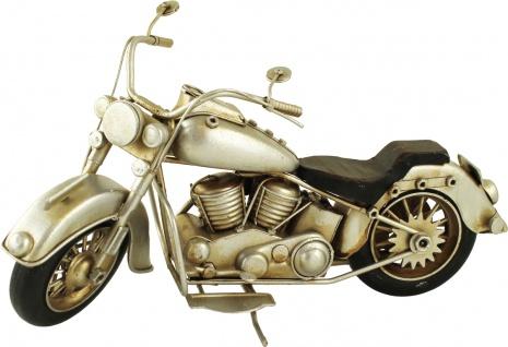 DEKO-MOTORRAD Metall-Motorrad 599712 Silber