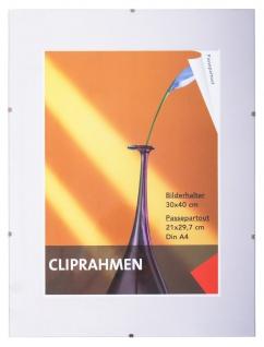 Rahmenlos Bilderhalter Bilderrahmen 30x40 cm