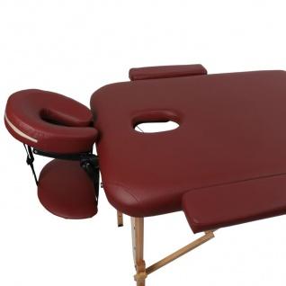 Profi Massageliege bordeaux Kosmetikliege Massagebank Massagetisch bis 270kg - Vorschau 4