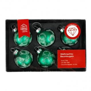 Glas-Weihnachtsbaumkugeln grün 6er-Set Christbaumschmuck Weihnachtsdeko 4cm