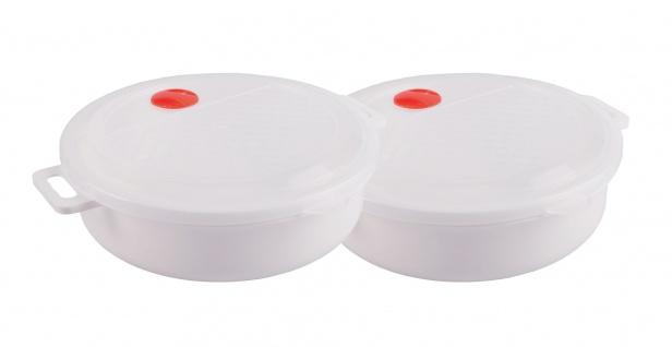 2x Mikrowellen Kasserolle 2, 0L Mikrowellengeschirr Gefrierdose Frischhaltedose