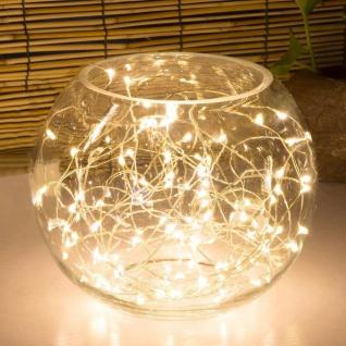 Innen-Lichterkette mit Timer 80 LEDs warmweiß Drahtlichterkette Dekolicht 7, 9m