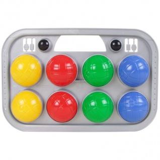 Boccia-Spiel-Set 8+2 Kugeln im Tragekorb Wurfspiel Boule Botscha Gartenspiel
