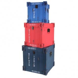 Truhen-Set 3tlg. Container Design Aufbewahrungskiste Holzkisten Dekokisten Truhe - Vorschau 3
