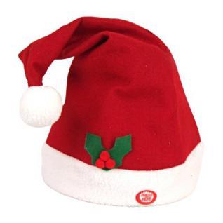 Rockende Weihnachtsmütze mit Musik Weihnachtsmann Mütze Weihnachten Nikolaus