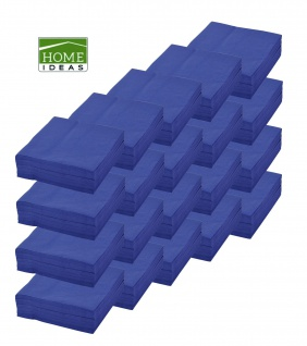 1000 Servietten blau 33x33cm 3lagig 1/4 Falz Papierserviette Papiertuch Deko