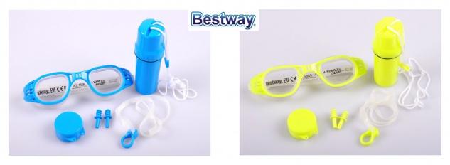 Bestway Schwimm-Set Schwimmbrille Nasenklammer Ohrstöpsel Strandbox Brille