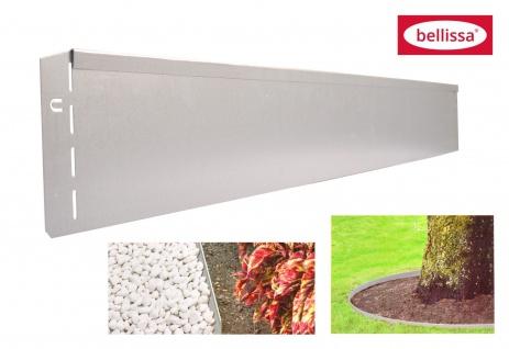 Bellissa Metall Rasenkante 118cm verzinkt Beetumrandung Beeteinfassung Mähkante