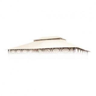 Ersatzdach ecru für Cape Town Garten-Pavillon 4x3m Pavillondach Kaminabzug Dach