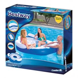 Bestway CoolerZ Badeinsel X3 3 Pers. Luftmatratze Schwimminsel Liege Pool Relax - Vorschau 3