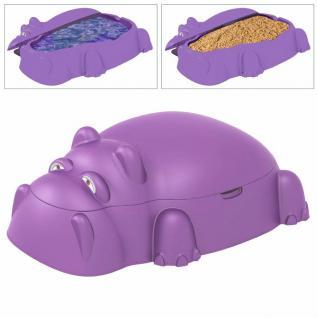 Sandkasten Hippo Planschbecken Nilpferd Sandkiste Kinder-Pool Buddelkasten