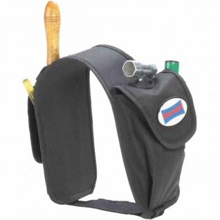 Satteltasche für Doppelkanister schwarz