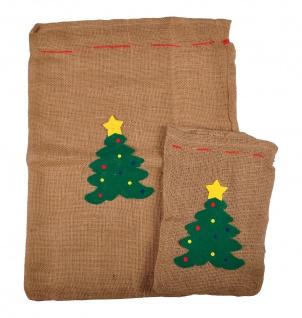 Geschenkesack 2er-Set Jutesack Nikolaussack Geschenkebeutel Geschenkverpackung - Vorschau 3
