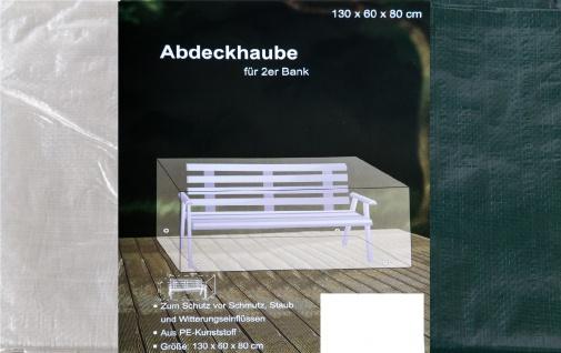 Abdeckhaube für 2-Sitzer Bank Möbelabdeckung Abdeckplane Schutzhülle 130x60x80cm