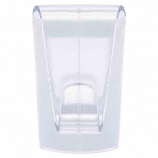 Klebehaken Glas bis 1kg transparent Wandhaken Haken Handtuchhaken Handtuchhalter