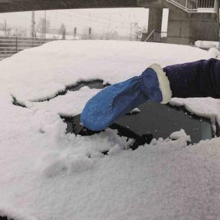 Eisschaber Handschuh Eiskratzer Auto Autopflege Winter Kälteschutz Frost Scheibe