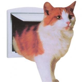 4-Wege Katzenklappe Katzentür Katze Katzen Klappe Sicherheitssperre Magnet neu - Vorschau 2