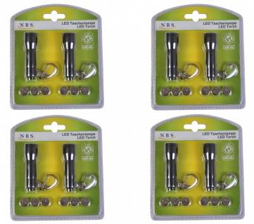 8er-Set LED Taschenlampe Handlampe Schlüsselanhänger Flashlight Leuchte klein