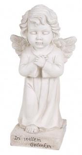 Grab-Spruchstein stehender Engel 56cm Schutzengel Grabschmuck Figur Statue Deko