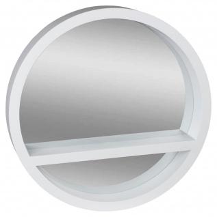 Deko-Spiegel mit Ablage weiß Ø45cm Wandspiegel Badezimmerspiegel Badspiegel
