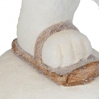Deko-Figur Eisbär auf Schlittschuh 44x39x21cm Tierfigur Weihnachtsdeko Tischdeko - Vorschau 3