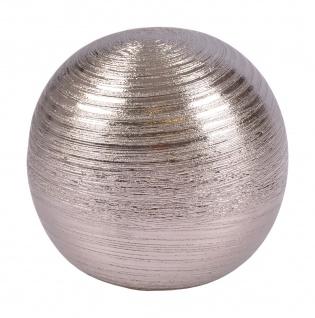 Dekokugel aus Keramik silber 15, 5cm Tischdeko Silberkugel Dekofigur Kugel