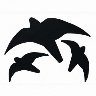 Greifvogelsilhouette, Farbe: schwarz