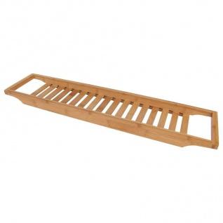 Bambus-Badewannentablett 64x15cm Wannenaufsatz Holz Ablage Baddeko Wannenbrücke