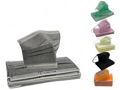 10 x Einmal-Mundschutz 3 lagig Gesichtsmaske Einwegmaske Mund- Nasenbedeckung