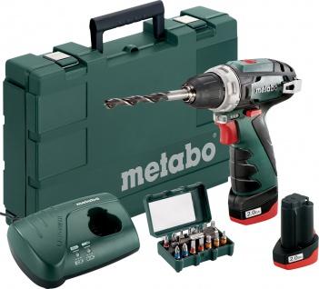 """metabo AKKUBOHRSCHR.POWERMAX 10, 8-Volt-Akku-Bohrschrauber ,, PowerMaxx BS Basic Set"""" 600809200 Bas."""