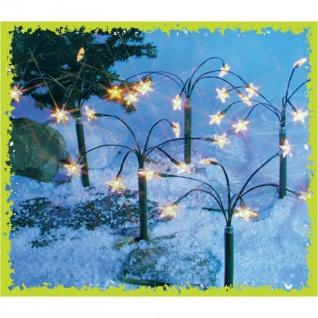 Garten-Leuchtstäbe Sterne 5er-Set Weihnachtsdeko Winterdeko Balkon Lichterkette