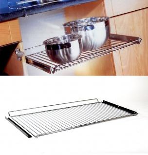 Wesco Einbau Herdrost 900 mm chrom mit Auflagewinkel Ablage Küchenablage