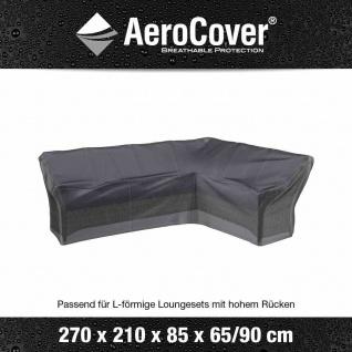 Atmungsaktive Schutzhülle für L-förmige Lounge-Sets 270x210x85xH65/90 cm sitzende rechte Seite 270 cm