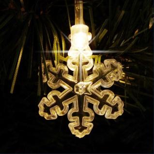 40 LED Schneeflocken Lichterkette warmweiß Winterdeko Weihnachtsbeleuchtung