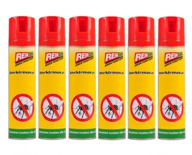 6x Reinex Insektenspray 400ml Insektenstopp Mückenspray Fliegenspray Wespenspray