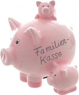 "SPARDOSE Sparschwein ,, Familien-Kasse"" 63797 Familie Rosa Kera"