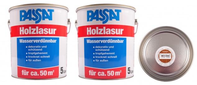 Passat Holzlasur 10 Liter Nussbaum Holzschutz schnelltrocknend Holzfarbe außen