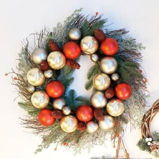 Weihnachts-Türkranz mit Kugeln 60cm Dekokranz Weihnachtsdeko Wanddeko Türdeko