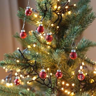 Mini-Weihnachtsbaumkugeln aus Glas 9er-Set 2cm Christbaumschmuck Weihnachtsdeko