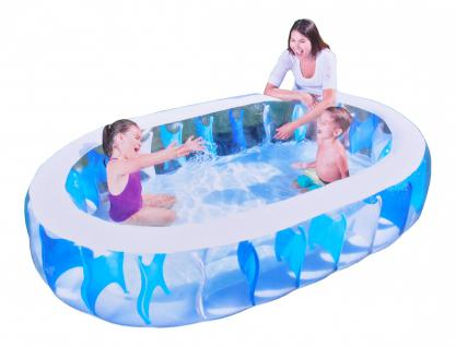 Ovaler Pool Elliptic 229 x 152 x 51 cm Kinderplanschbecken Familienpool Schwimmbecken Swimmingpool