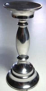 Kerzenleuchter 23cm silber für Stumpenkerze Kerzenständer Kerzenhalter Tischdeko