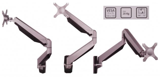 Isel® Alu Monitor Wand Halterung bis 20 Kg / 42 Zoll Wandhalter Fernseher TV LED
